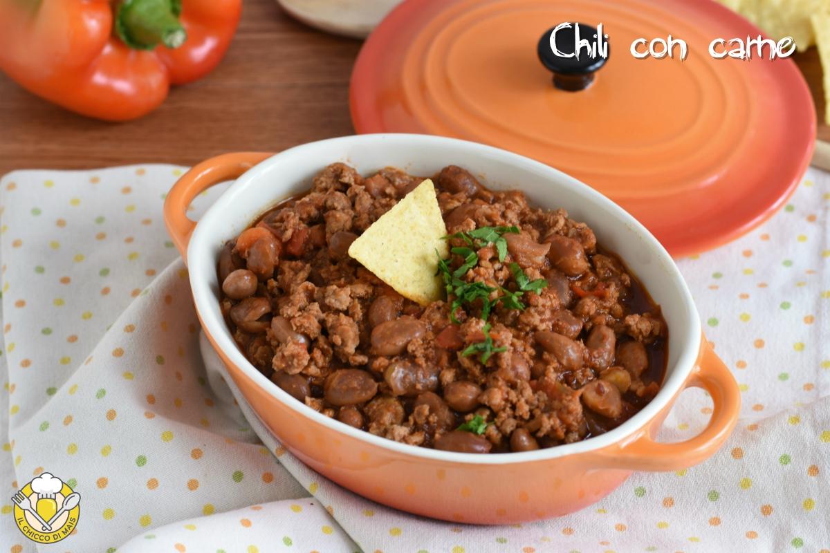 chili con carne e fagioli ricetta messicana texmex con carne macinata il chicco di mais