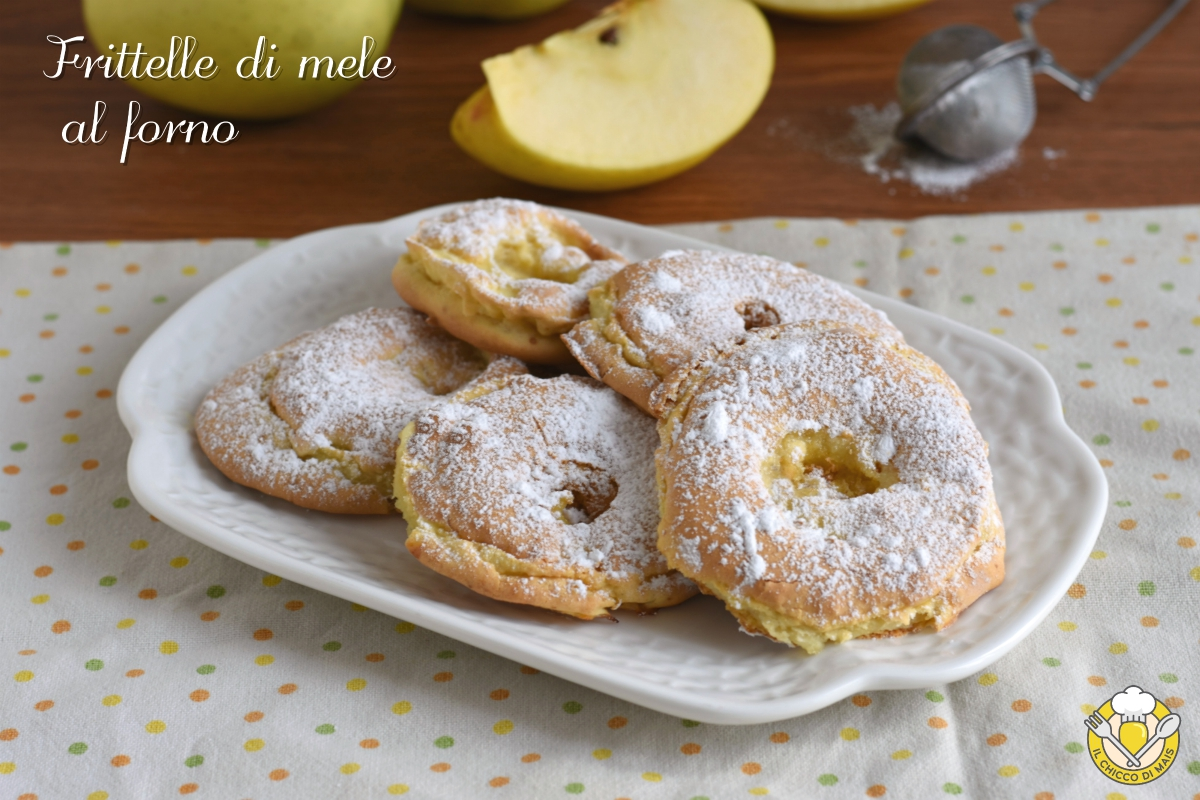 frittelle di mele al forno a fette con pastella ricetta light il chicco di mais