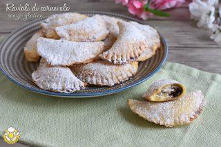 dolci di carnevale ravioli di carnevale senza glutine con ricotta e gocce di cioccolato ricetta con mix nurifree il chicco di mais