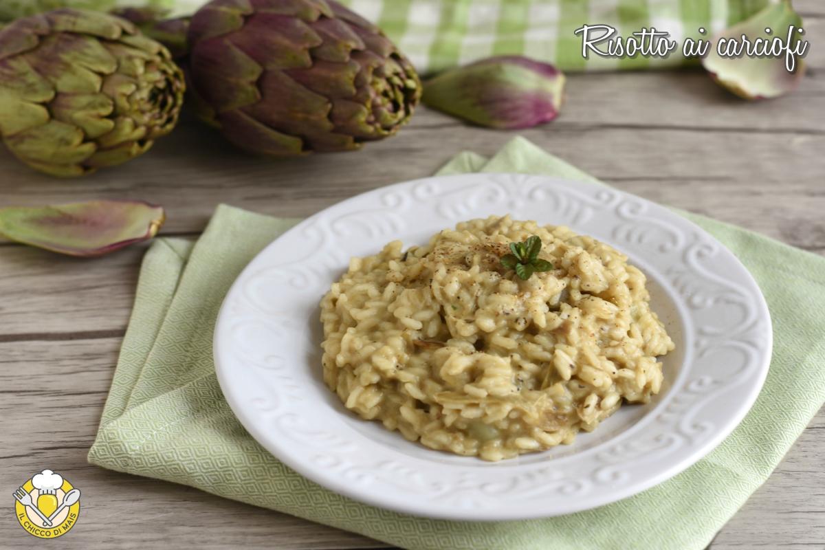 risotto ai carciofi ricetta classica vegetariana il chicco di mais