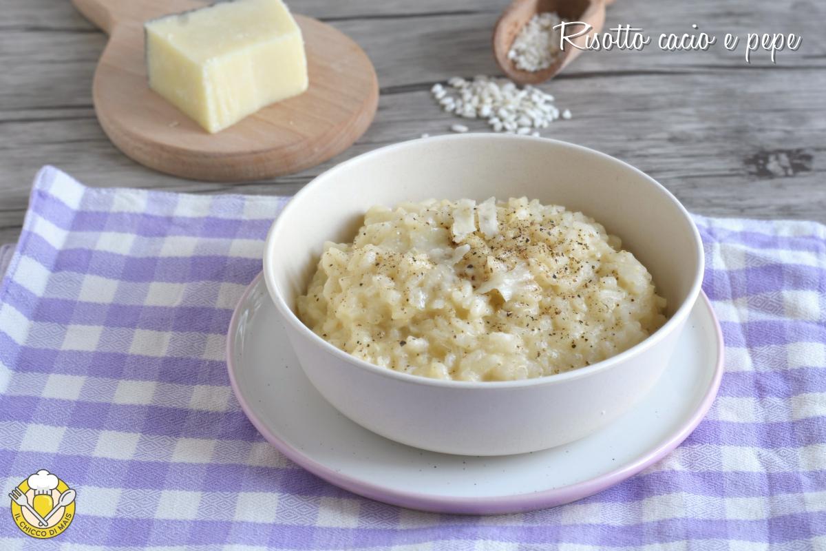 risotto cacio e pepe ricetta romana e consigli il chicco di mais