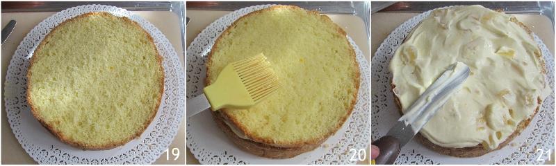 torta mimosa all'ananas ricetta facile con foto passo passo torta di compleanno il chicco di mais 7 coprire la torta mimosa