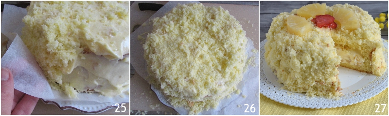 torta mimosa all'ananas ricetta facile con foto passo passo torta di compleanno il chicco di mais decorare la torta mimosa ananas