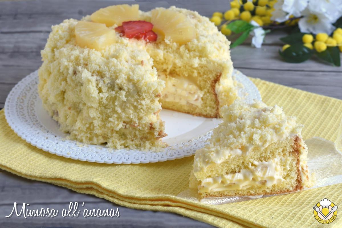 torta mimosa all'ananas ricetta facile con foto passo passo torta di compleanno il chicco di mais