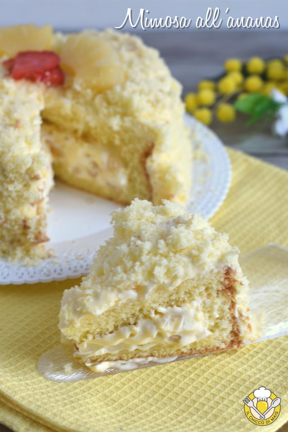 v fet_ torta mimosa all'ananas ricetta facile con foto passo passo torta di compleanno il chicco di mais
