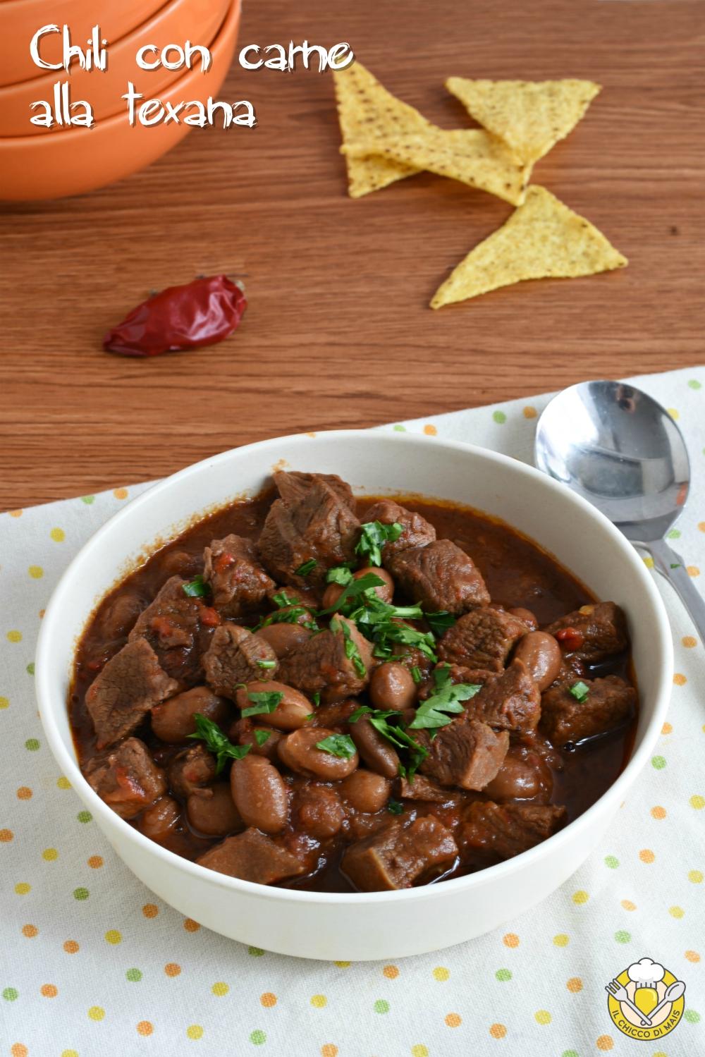 v_ chili con carne alla texana con carne a pezzi ricetta originale americana il chicco di mais