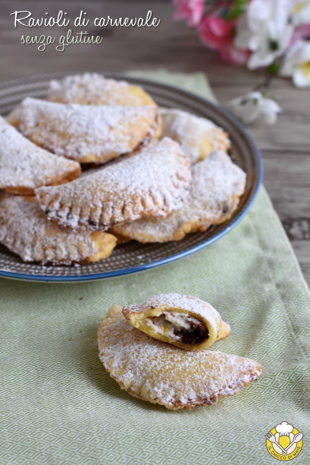 v_ ravioli di carnevale senza glutine con ricotta e gocce di cioccolato ricetta con mix nurifree il chicco di mais