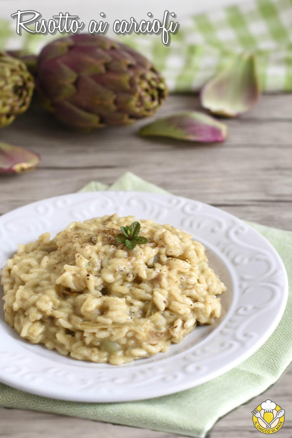 v_ risotto ai carciofi ricetta classica vegetariana il chicco di mais