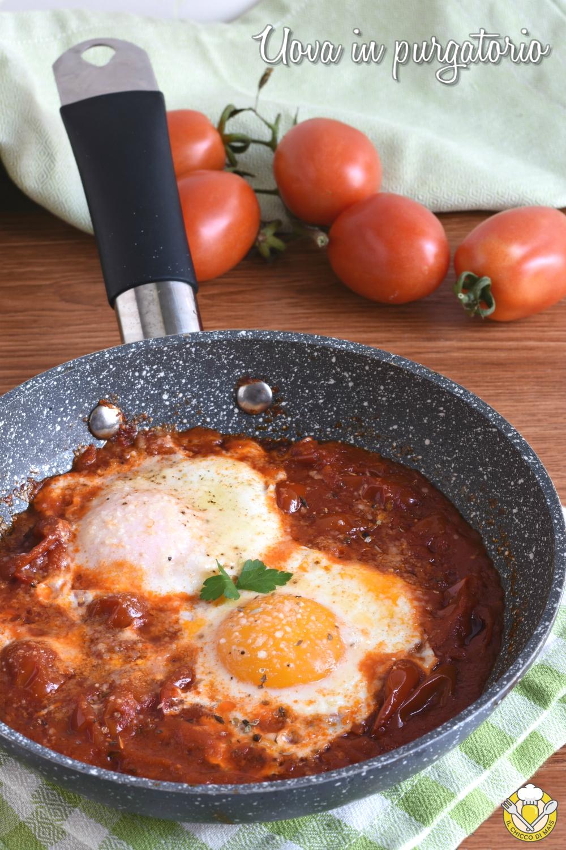 v_ uova in purgatorio ricetta salvacena uova in padella con pomodoro e formaggio il chicco di mais