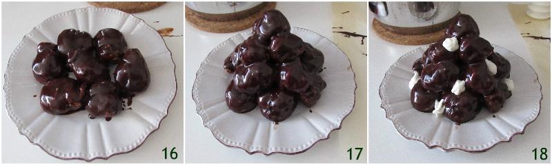 Profiteroles al cioccolato e crema diplomatica ricetta passo passo anche senza glutine il chicco di mais 6 comporre il profiteroles
