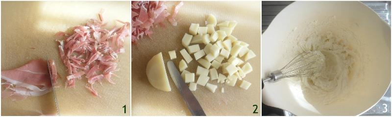 ciambella rustica alla ricotta speck e scamorza ricetta senza lievitazione per pasqua e pasquetta il chicco di mais 1 tagliare gli ingredienti