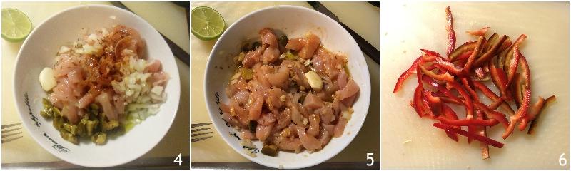 fajitas di pollo e verdure con tortillas ricetta messicana facile piadine arrotolate il chicco di mais 2 tagliare i peperoni