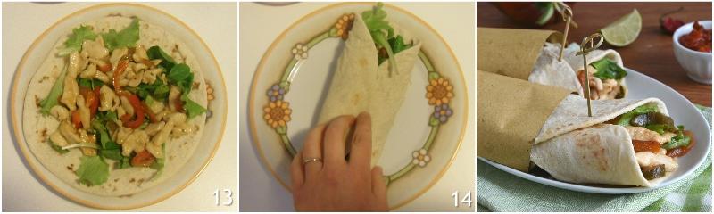 fajitas di pollo e verdure con tortillas ricetta messicana facile piadine arrotolate il chicco di mais 5 chiudere le tortillas
