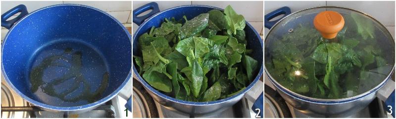 rotolo di pollo con uova sode spinaci e prosciutto cotto ricetta secondo di pasqua il chicco di mais 1 cuocere gli spinaci