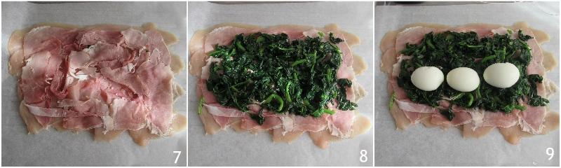 rotolo di pollo con uova sode spinaci e prosciutto cotto ricetta secondo di pasqua il chicco di mais 3 farcire il rotolo