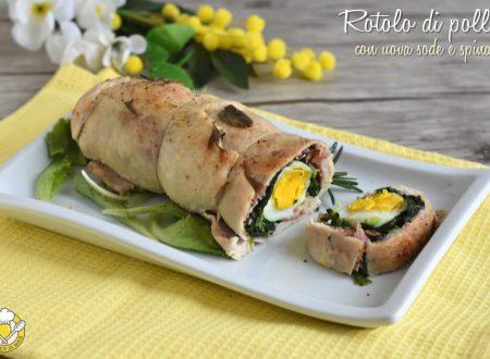 Rotolo di pollo con uova sode e spinaci