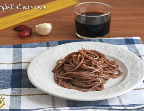 Spaghetti al vino rosso