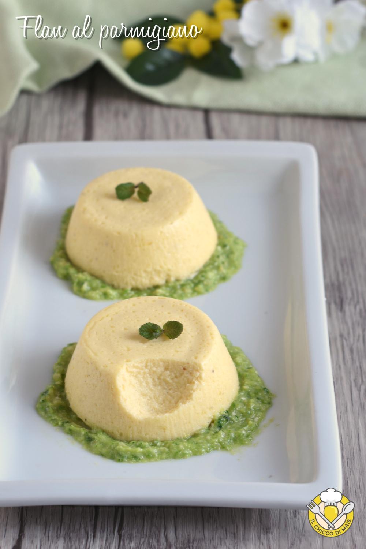 v_ flan al parmigiano con salsa di zucchine ricetta sformatini o tortini antipasto facile raffinato vegetariano il chicco di mais