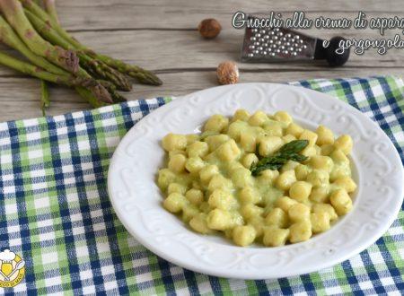 Gnocchi con crema di asparagi e gorgonzola