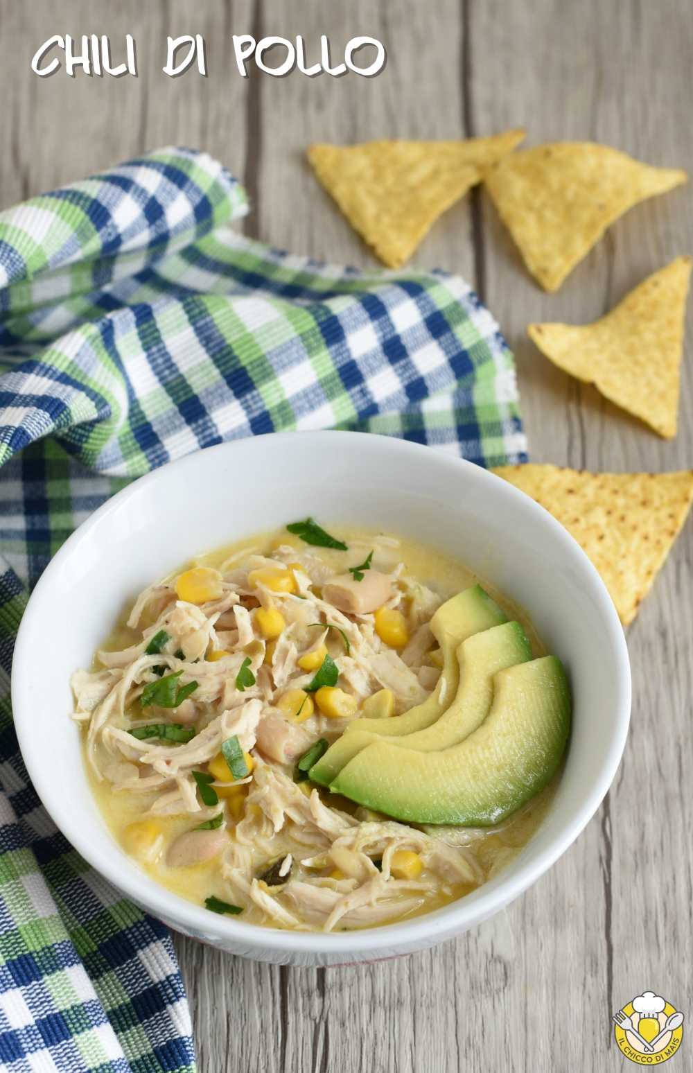 v_ chili di pollo con fagioli e avocado ricetta messicana chili bianco il chicco di mais