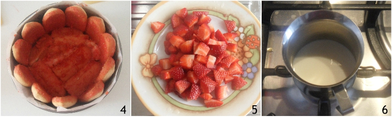 charlotte alle fragole senza cottura ricetta facile con mascarpone e yogurt il chicco di mais 2 tagliare le fragole