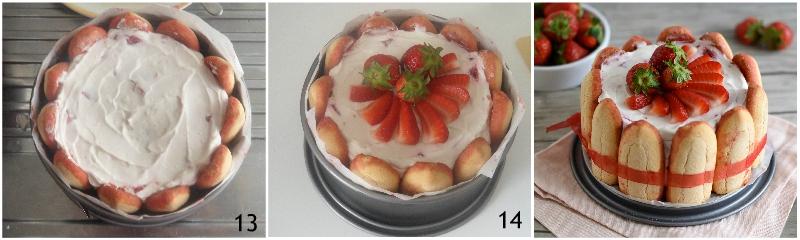 charlotte alle fragole senza cottura ricetta facile con mascarpone e yogurt il chicco di mais 5 decorare con fragole fresche