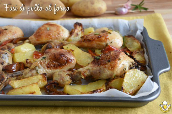 fusi di pollo al forno con patate e peperoni ricetta facile cosce di pollo croccanti e morbide il chicco di mais