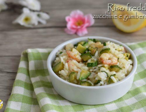 Riso freddo zucchine e gamberetti