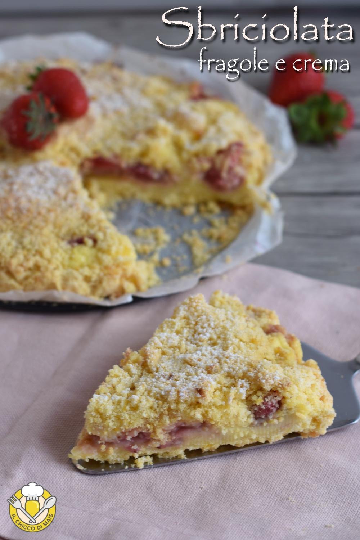 v_ sbriciolata alle fragole e crema ricetta dolce alle fragole facile e veloce anche senza glutine il chicco di mais