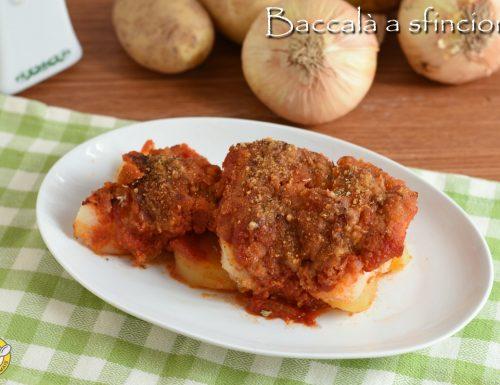 Baccalà a sfincione con patate
