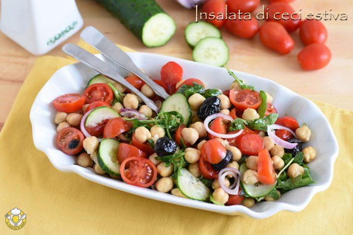 insalata di ceci estiva con pomodorini rucola e cetriolo ricetta light il chicco di mais