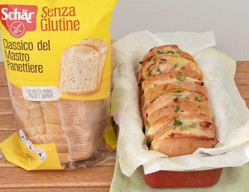 Pane farcito al forno con prosciutto e formaggio