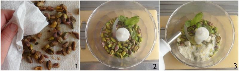 pesto di pistacchi per pasta e crostini ricetta siciliana il chicco di mais 1 togliere la pellicina ai pistacchi