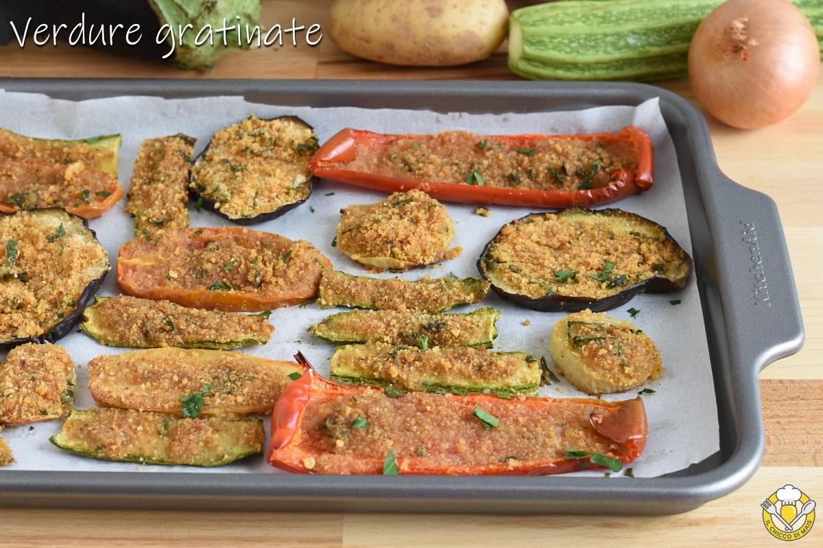 verdure gratinate al forno con pangrattato e parmigiano ricetta facile il chicco di mais