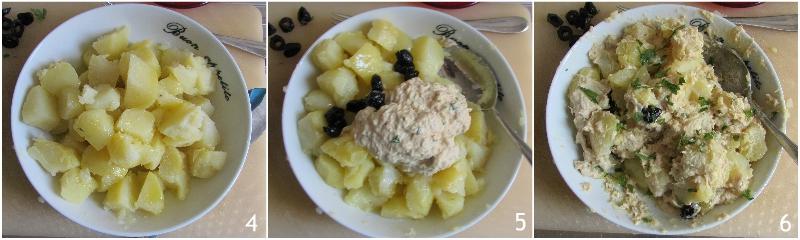 Insalata di patate tonnate con tonno maionese e olive ricetta facile e veloce il chicco di mais 2 condire le patate