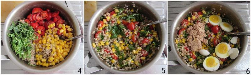 insalata di grano saraceno con tonno e verdure e uova sode ricetta senza glutine il chicco di mais 2 unire verdure tonno e uova