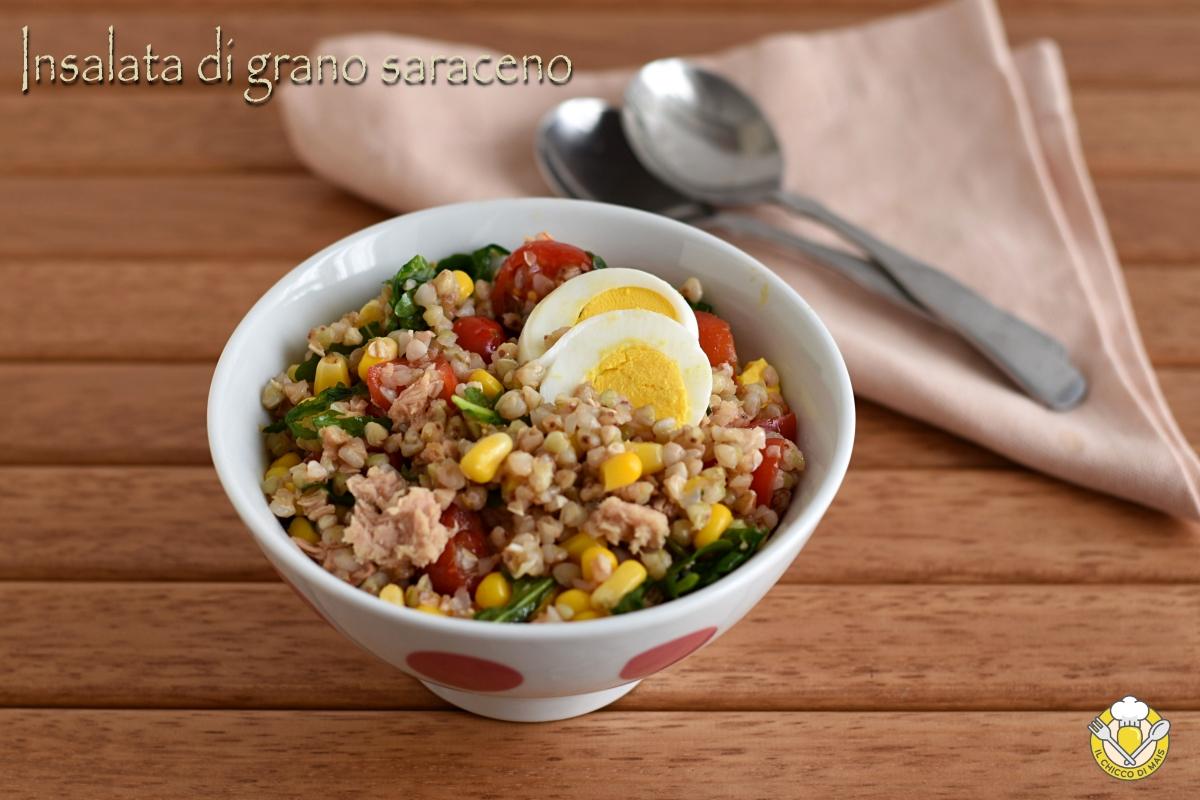 insalata di grano saraceno con tonno e verdure e uova sode ricetta senza glutine il chicco di mais