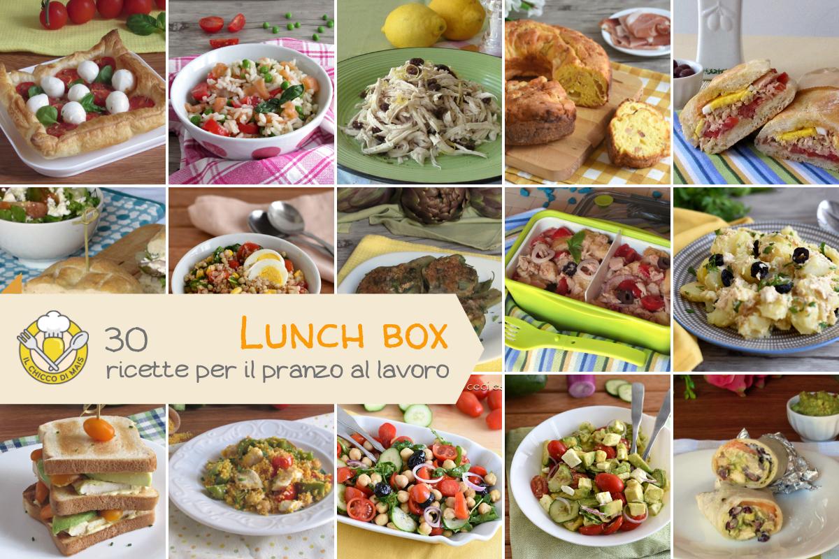 Lunch box 30 ricette da portare al lavoro senza microonde facili e sfiziose primi e secondi il chicco di mais