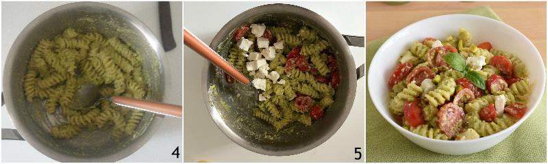 pasta fredda con pesto di pistacchi feta e pomodorini ricetta insalata di pasta originale veloce il chicco di mais 2 condire l'insalata di pasta