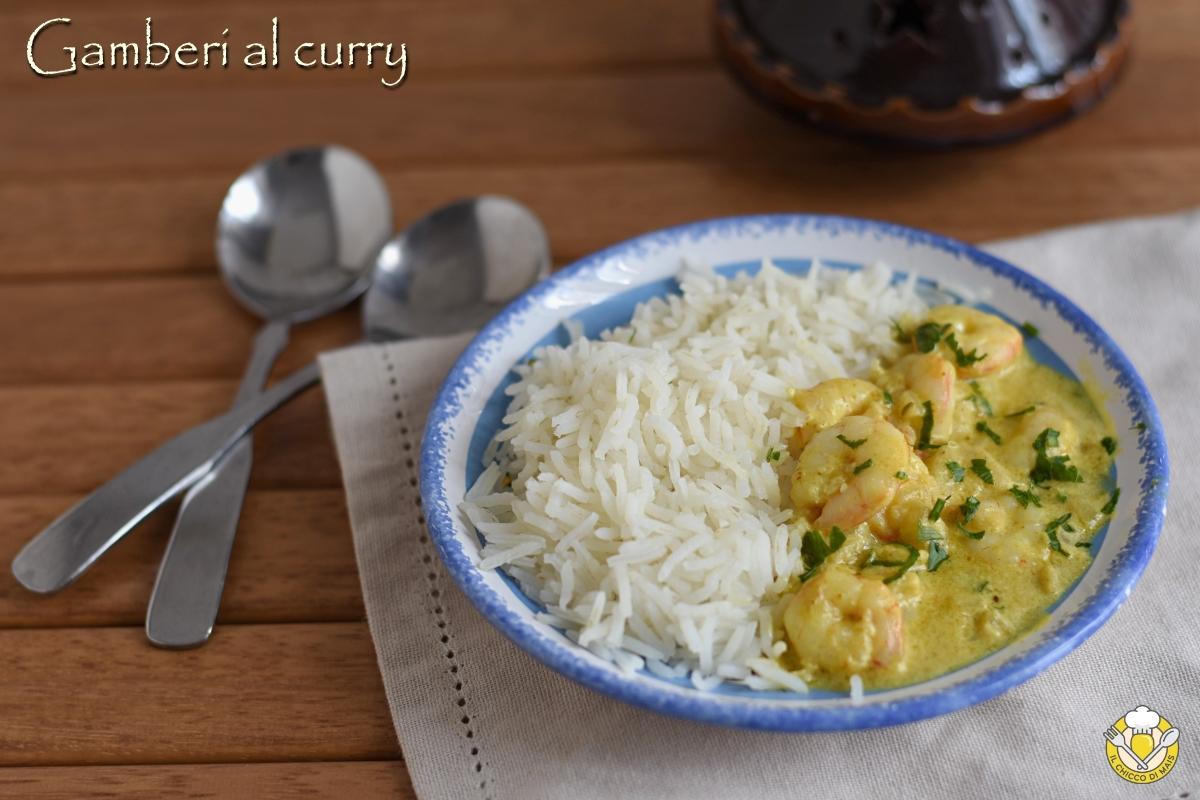 gamberi al curry ricetta indiana gamberi cremosi con yogurt e riso il chicco di mais