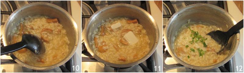 risotto ai finferli ricetta risotto cremoso ai funghi gallinacci o galletti il chicco di mais 4 mantecare il risotto