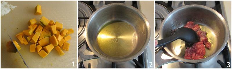 risotto zucca e salsiccia cremoso mantecato ricetta facile il chicco di mais 1 tagliare la zucca