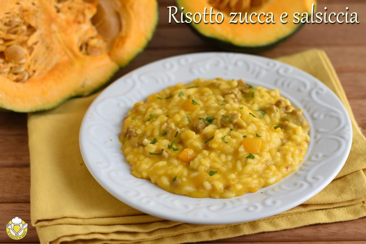 risotto zucca e salsiccia cremoso mantecato ricetta facile il chicco di mais