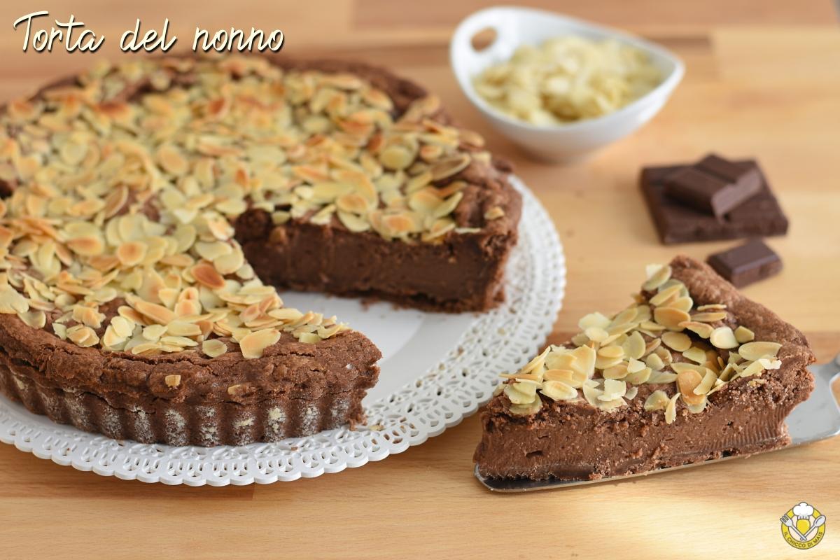 torta del nonno ricetta crostata della nonna al cioccolato e mandorle ricetta passo passo il chicco di mais