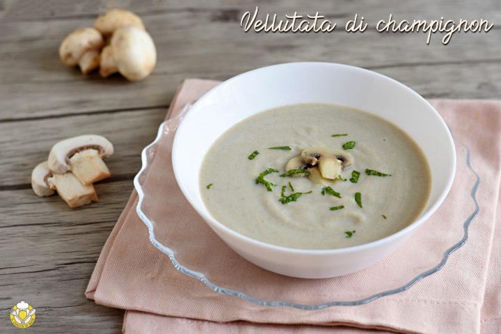 vellutata di champignon senza panna e senza patate ricetta facile economica il chicco di mais