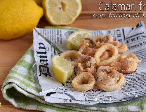 Calamari fritti con farina di riso