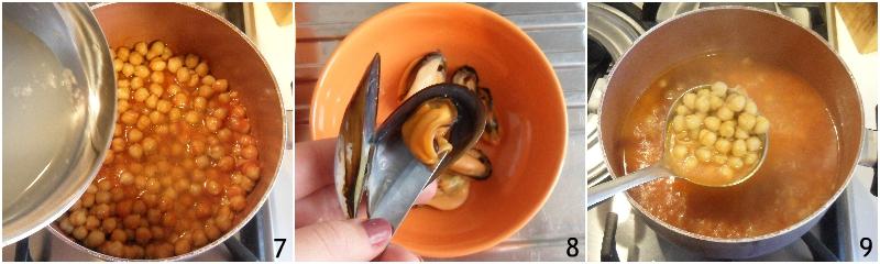 zuppa di ceci e cozze ricetta primo di pesce facile economico il chicco di mais 3 cuocere la zuppa