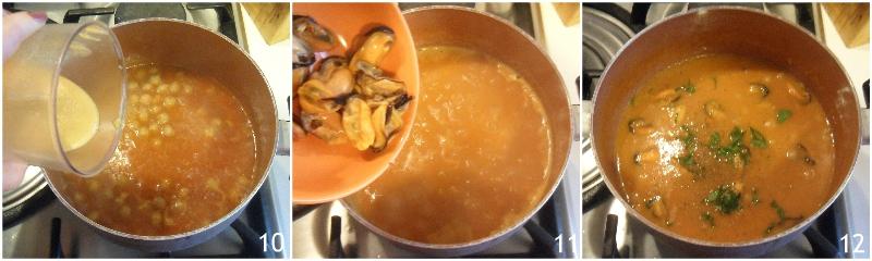 zuppa di ceci e cozze ricetta primo di pesce facile economico il chicco di mais 4 unire le cozze
