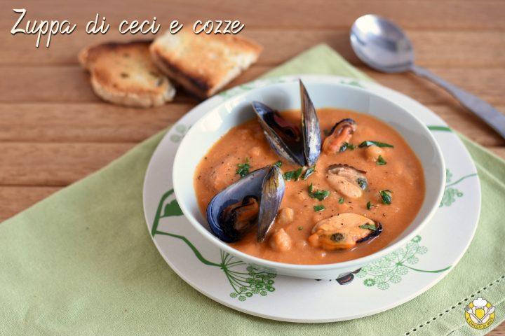zuppa di ceci e cozze ricetta primo di pesce facile economico il chicco di mais