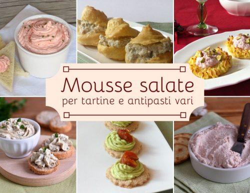 Mousse salate per tartine e antipasti vari